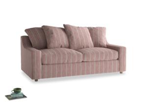 Medium Cloud Sofa in Red french stripe