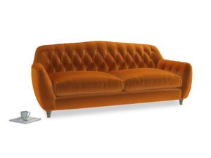 Large Butterbump Sofa in Spiced Orange clever velvet