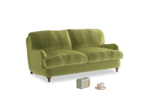 Small Jonesy Sofa in Olive plush velvet