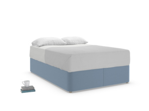 Double Store Storage Bed in Nordic blue brushed cotton