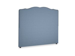 Double Marie Headboard in Nordic blue brushed cotton