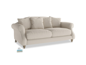 Medium Sloucher Sofa in Buff brushed cotton