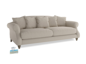 Large Sloucher Sofa in Buff brushed cotton