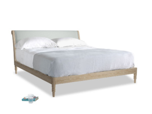 Superking Darcy Bed in French blue brushed cotton