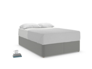 Double Store Storage Bed in French Grey brushed cotton
