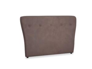 Double Smoke Headboard in Dark Chocolate beaten leather