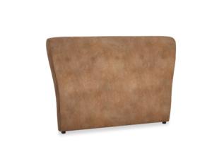 Double Smoke Headboard in Walnut beaten leather