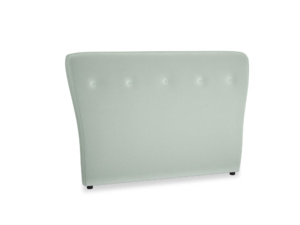 Double Smoke Headboard in Mint clever velvet
