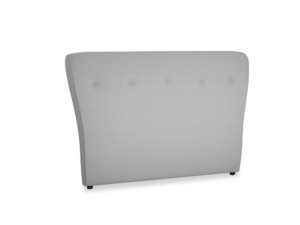 Double Smoke Headboard in Magnesium washed cotton linen