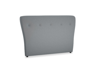 Double Smoke Headboard in Dusk vintage linen