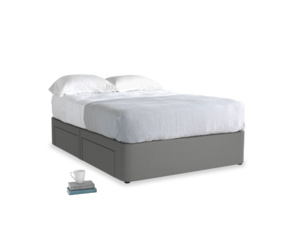 Double Tight Space Storage Bed in French Grey brushed cotton