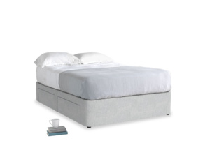 Double Tight Space Storage Bed in Pebble vintage linen