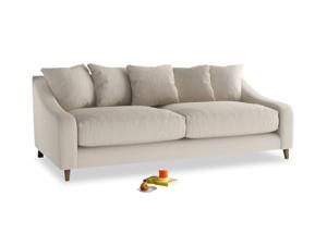 Large Oscar Sofa in Buff brushed cotton