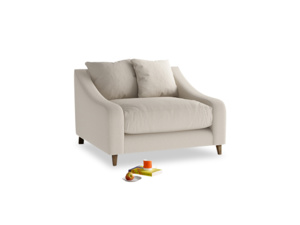 Oscar Love seat in Buff brushed cotton
