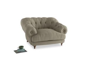 Bagsie Love Seat in Jute vintage linen