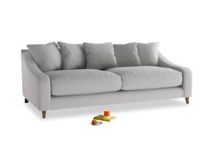 Large Oscar Sofa in Flint brushed cotton