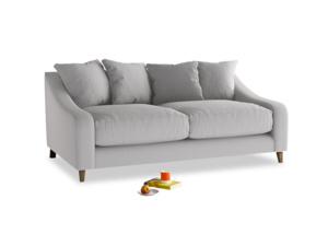 Medium Oscar Sofa in Flint brushed cotton