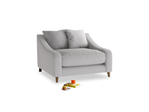 Oscar Love seat in Flint brushed cotton