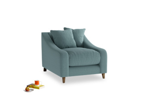 Oscar Armchair in Marine washed cotton linen