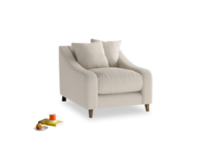 Oscar Armchair in Buff brushed cotton