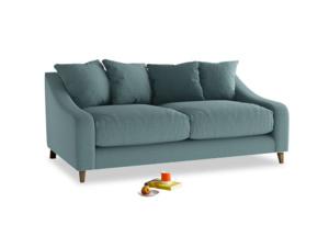 Medium Oscar Sofa in Marine washed cotton linen