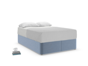 Double Store Storage Bed in Winter Sky clever velvet