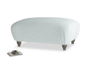 Rectangle Homebody Footstool in Duck Egg vintage linen