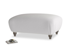 Rectangle Homebody Footstool in Flint brushed cotton