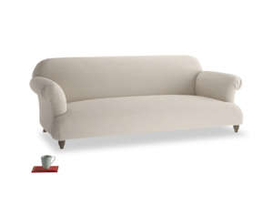 Large Soufflé Sofa in Buff brushed cotton