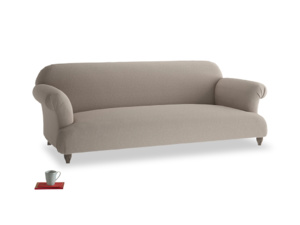 Large Soufflé Sofa in Driftwood brushed cotton