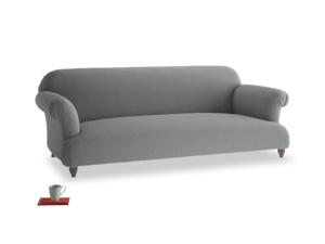 Large Soufflé Sofa in Gun Metal brushed cotton