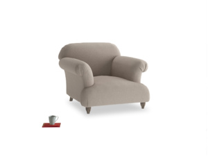 Soufflé Armchair in Driftwood brushed cotton