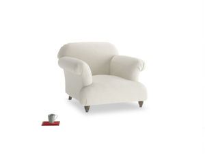 Soufflé Armchair in Oat brushed cotton
