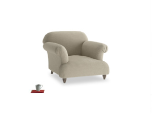 Soufflé Armchair in Jute vintage linen