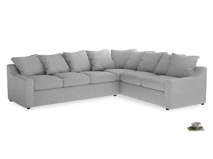 Xl Right Hand Cloud Corner Sofa in Mist cotton mix
