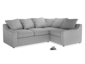 Large Right Hand Cloud Corner Sofa in Mist cotton mix