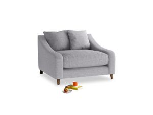 Oscar Love seat in Storm cotton mix