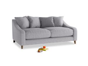 Medium Oscar Sofa in Storm cotton mix