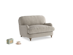 Jonesy Love seat in Birch wool