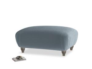 Rectangle Homebody Footstool in Mermaid plush velvet