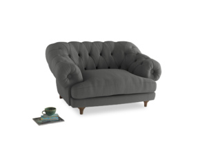 Bagsie Love Seat in French Grey brushed cotton