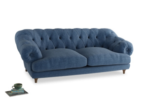 Large Bagsie Sofa in Hague Blue cotton mix
