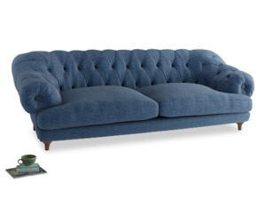 Extra large Bagsie Sofa in Hague Blue cotton mix