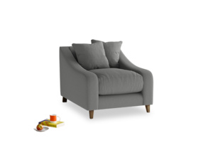 Oscar Armchair in French Grey brushed cotton