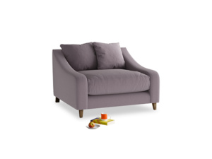 Oscar Love seat in Lavender brushed cotton