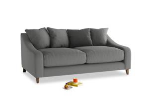 Medium Oscar Sofa in French Grey brushed cotton