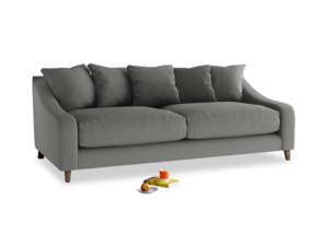 Large Oscar Sofa in French Grey brushed cotton