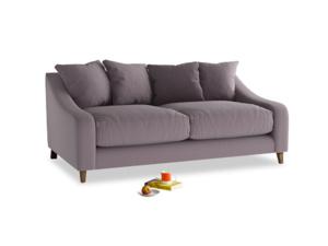 Medium Oscar Sofa in Lavender brushed cotton