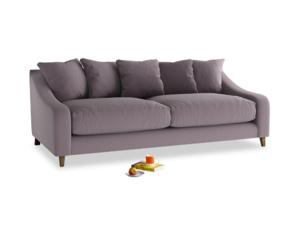 Large Oscar Sofa in Lavender brushed cotton