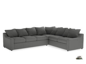Xl Right Hand Cloud Corner Sofa in French Grey brushed cotton